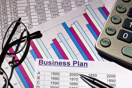 a business plan for starting a business  ideas and strategies for self-employment Stock Photo - 15659825
