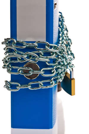 a file folder with chain and padlock closed  privacy and data security  Stock Photo - 15683777