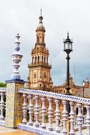 espana: spain, andalusia  the spanish pavilion in seville on  plaza espana