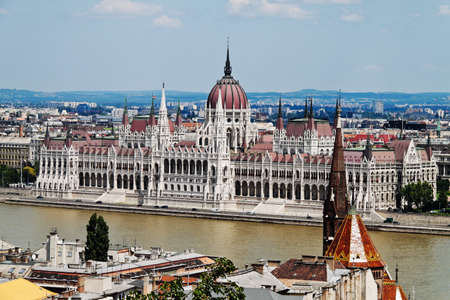 township: the hungarian parliament in budapest, capital of hungary