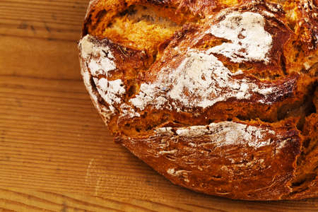 crust crusty: a loaf of bread  healthy diet with fresh baked goods  Stock Photo