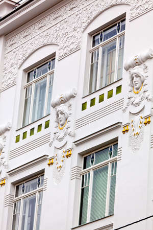 rehabilitated: a beautifully renovated art nouveau building  renovation of old town houses