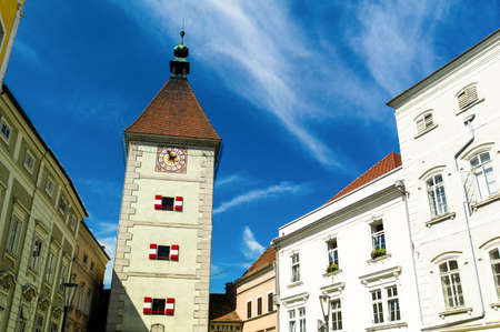statutory: the ancient and beautiful city of wels in upper austria, austria  Stock Photo