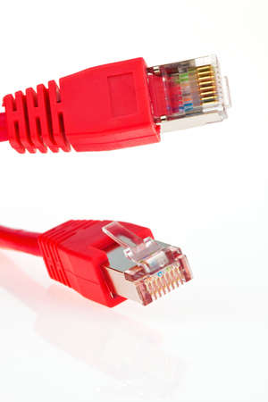 the red wire of a network from a computer Stock Photo - 16327760