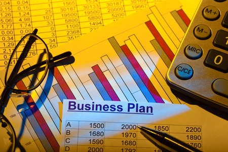 a business plan for starting a business  ideas and strategies for self-employment Stock Photo - 16360102