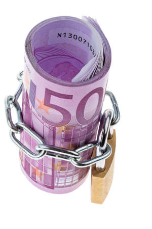 500 euro bill concluded with a chain Stock Photo - 16328850