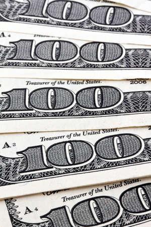 seem: detail of american dollar bills