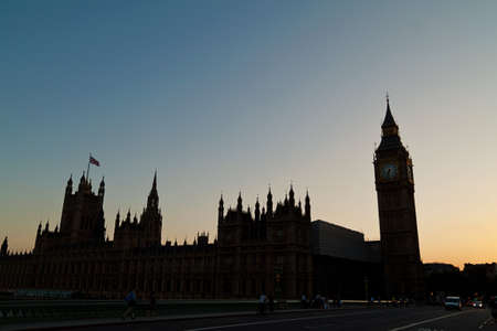 parliament and big band in london, england  in the evening light Stock Photo - 16327924