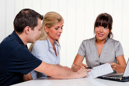 employed: husband and wife in a counseling session Stock Photo