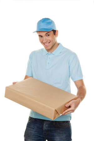 a messenger delivered by courier service parcel post photo