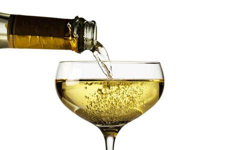 sektglas: Champagner-Flasche mit einem Glas Champagner Symbolfoto für Feiern und neuen Jahr Lizenzfreie Bilder