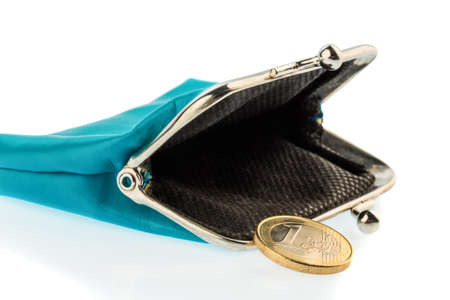 insolvency: an almost empty wallet as a symbol photo for debt, poverty and bankruptcy