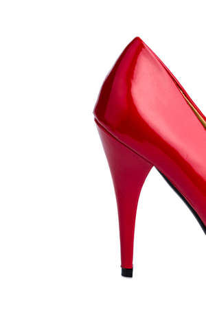 red high heel on a white background  symbolfoto adult and prostitution Stock Photo - 16872181