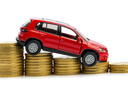 falling profits in the automobile and for car manufacturers  Stock Photo - 17122134