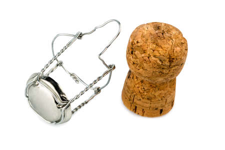 solemnity: clasp and champagne corks, symbolic photo for celebrations, enjoyment and consumption of alcohol Stock Photo