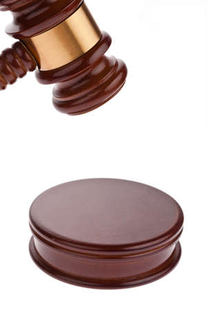 a judge or auction hammer hammer  isolated against white background Stock Photo - 17121977