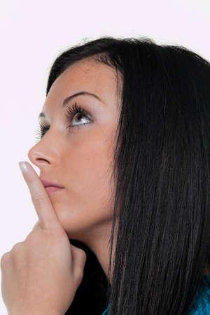 pensive woman Stock Photo - 17131063