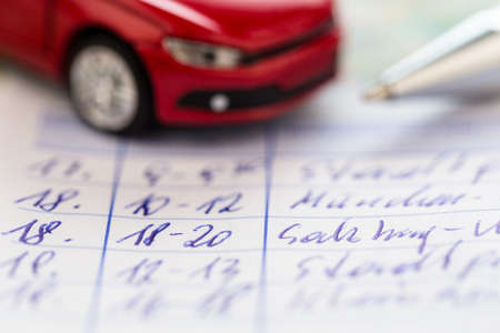 mileage: log book for a car  for commuter tax and revenue office
