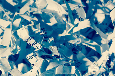 shredded paper, symbolic photo for data destruction, documentation and legacy photo