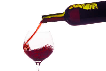 cabernet sauvignon: in a glass of red wine is lively empties  red wine in a wine glass