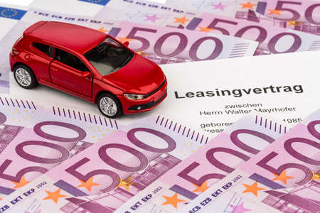 the lease  car lease  for a new car at the car dealer Stock Photo - 17634479