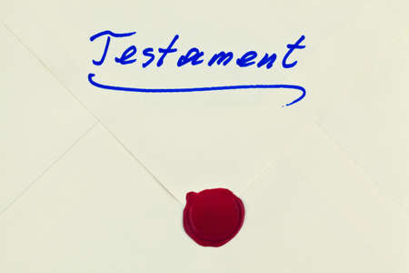 the testament of a deceased person in german  last will and inheritance photo