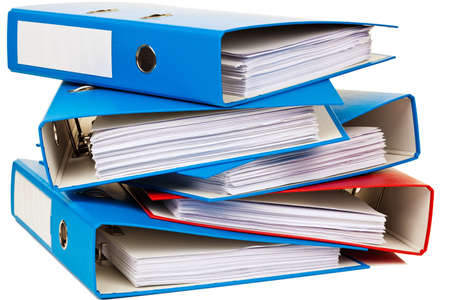 bureaucratic: file folder with documents and documents  storage contracts