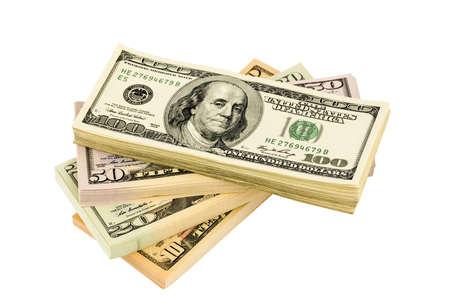 american dollar: many american dollar bills  symbolic photo for debt and wealth Stock Photo