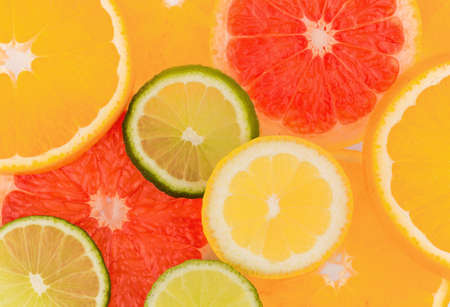 naturally: slices of an orange  representative photo of healthy vitamins from fresh fruit Stock Photo