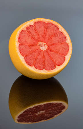 mirroring an orange  representative photo of healthy vitamins from fresh fruit