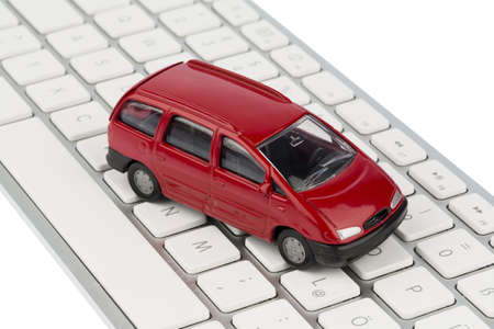 car keyboard symbol photo for buying a car and car dealership on the internet photo