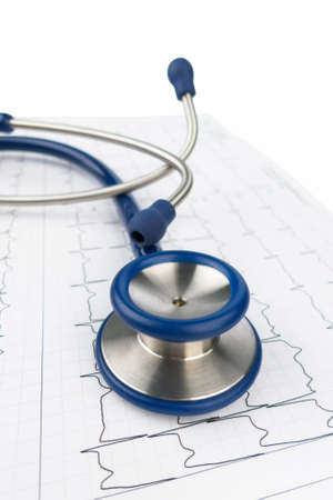 stethoscope and electrocardiogram, symbolic photo for heart disease and diagnostics Stock Photo - 18031130