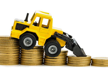 the revenue decline in the construction industry  less income for housing our roads Stock Photo - 18055136
