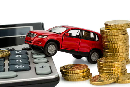 upkeep: car and calculator  rising costs for car sales, leasing, workshop, refueling and insurance