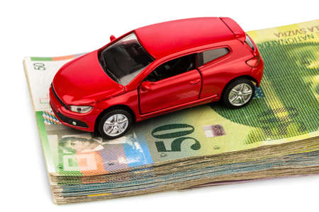 swiss franc: one car, swiss franc banknotes  cost of purchasing a car, petroland other car costs