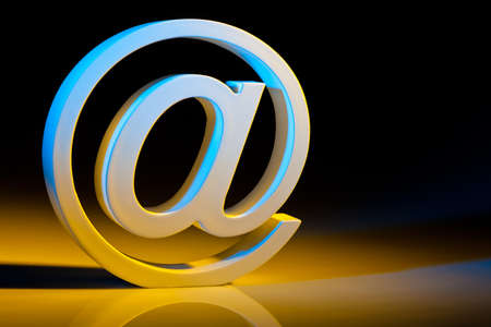 commerce communication: the e-mail characters  modern communication on the internet  Stock Photo