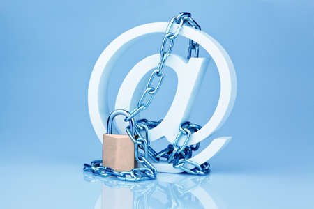 data security on the internet  safe surfing the internet  defense against viruses and spam  Stock Photo - 18055124