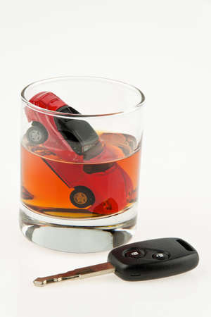 alcohol and car  alkolenker  drunk driving  Stock Photo - 18054672