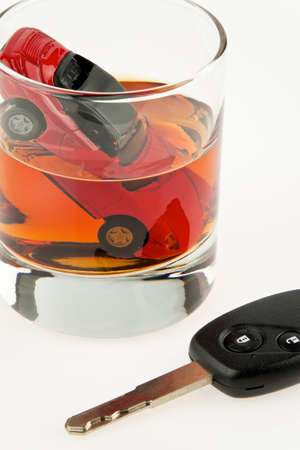 retraining: alcohol and car  alkolenker  drunk driving  Stock Photo