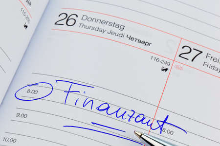 auditors: a date is entered in a calendar  tax office