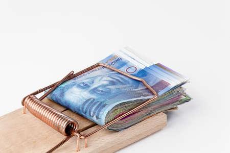frank szwajcarski: wiele szwajcarski frank w pułapka na myszy notatki