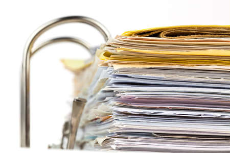 input output: a file folder with documents and documents  storage contracts  Stock Photo
