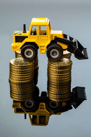 companies in the construction industry and the construction industry have to reckon with rising costs  higher prices higher in road construction and in residential Stock Photo - 18598006
