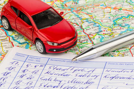 expenses: log book for a car  for commuter tax and revenue office