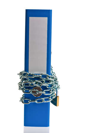 a file folder with chain and padlock closed  privacy and data security Stock Photo - 18597935