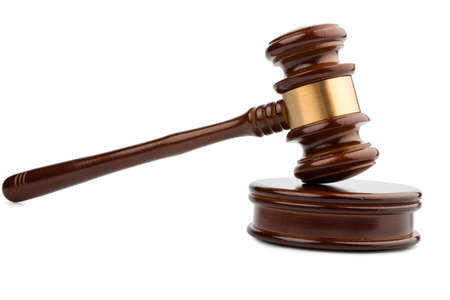 decisionmaking: auction hammer or gavel, symbol photo of authority and decision-making Stock Photo
