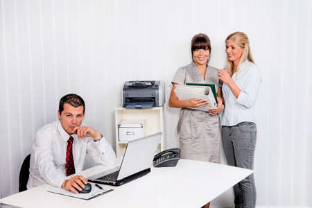 bullying at work in an office Stock Photo - 18788491
