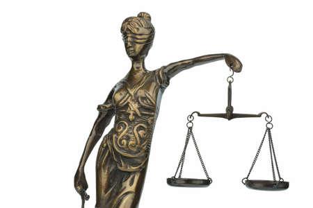 poronienie: rzeźba pani sprawiedliwości, symbolem równości i sprawiedliwości