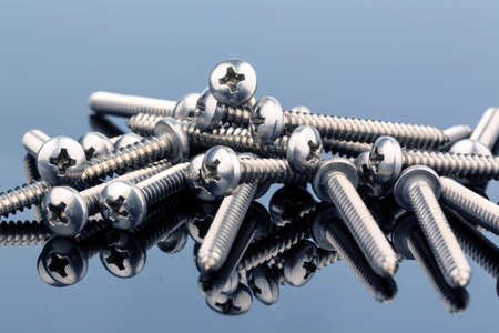 hobbyist: various screws in the workshop in a commercial operation