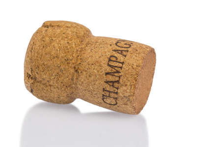 solemnity: a single champagne corks symbolfoto a treat, pleasure and luxury